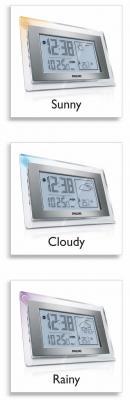 Метеостанция цифровая Philips AJ210/12 - цветовой индикатор погоды