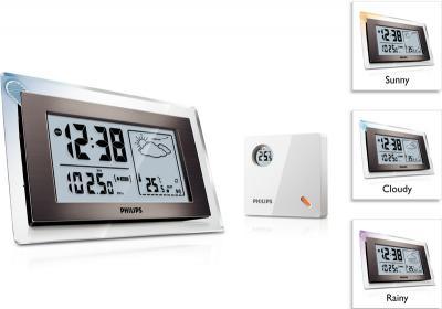 Метеостанция цифровая Philips AJ 260/12 - вид сбоку, спереди