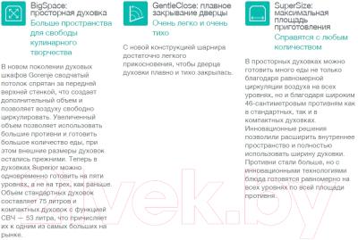 Электрический духовой шкаф Gorenje BO7345RW