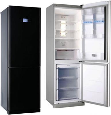 Холодильник с морозильником LG GA-B409TGMR - вид спереди