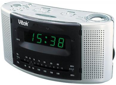 Радиочасы Vitek VT-3502 (серебристый) - общий вид