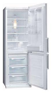 Холодильник с морозильником LG GA-B409BQA - вид спереди