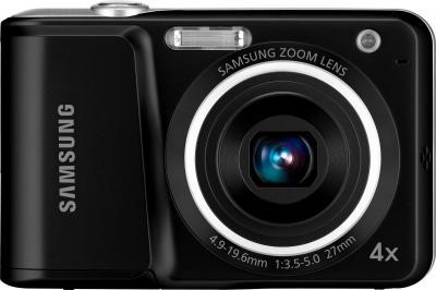 Компактный фотоаппарат Samsung ES25 Black - вид спереди