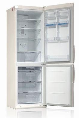 Холодильник с морозильником LG GA-B409UVQA - вид спереди