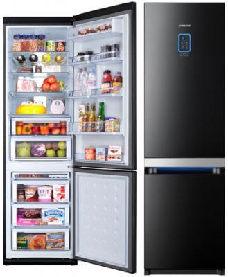 Холодильник с морозильником Samsung RL55VTEBG - общий вид