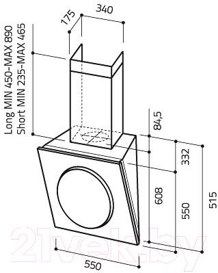 Вытяжка декоративная Elica Mini OM F/55 BK
