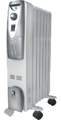 Масляный радиатор Polaris PRE T 0715 Mmetallic-Graphite - вид сбоку