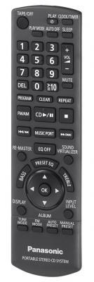 Магнитола Panasonic RX-D50 - пульт управления