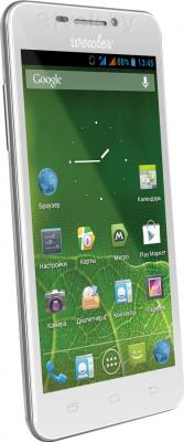 Смартфон Wexler ZEN 5 (белый) - полубоком