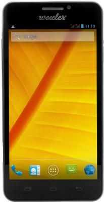 Смартфон Wexler ZEN 5+ (черный) - общий вид