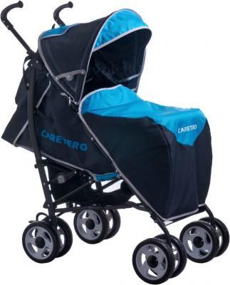 Детская прогулочная коляска Caretero Spacer Deluxe (синий) - чехол для ног