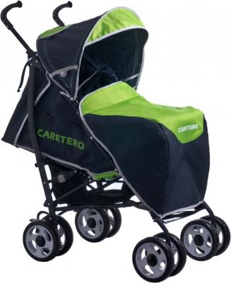 Детская прогулочная коляска Caretero Spacer Deluxe (зеленый) - чехол для ног