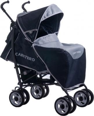 Детская прогулочная коляска Caretero Spacer Deluxe (серый) - чехол для ног