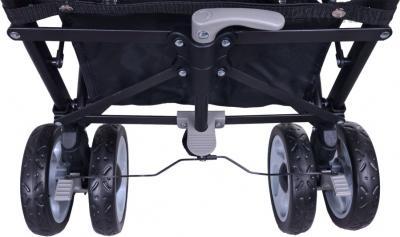 Детская прогулочная коляска Caretero Spacer Deluxe (серый) - колеса