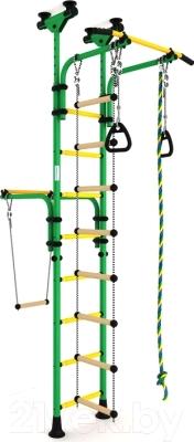Детский спортивный комплекс Romana Олимпиец 1 ДСКМ-2-8.06.Т1.410.01-22 (зеленый/желтый)