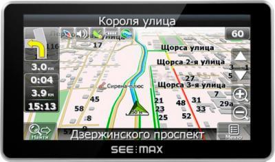 GPS навигатор SeeMax navi E510 HD BT 8GB ver. 3 - фронтальный вид