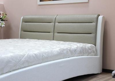 Двуспальная кровать Королевство сна VERA (160x200 золотая с жемчужным) - спинка из экокожи