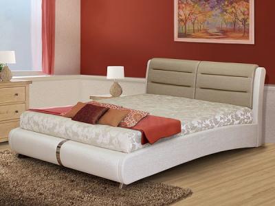 Двуспальная кровать Королевство сна VERA (160x200 золотая с жемчужным) - в интерьере