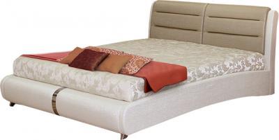 Двуспальная кровать Королевство сна VERA (180x200 золотая с жемчужным) - общий вид