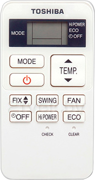 Сплит-система Toshiba RAS-07EKV-EE/RAS-07EAV-EE - пульт