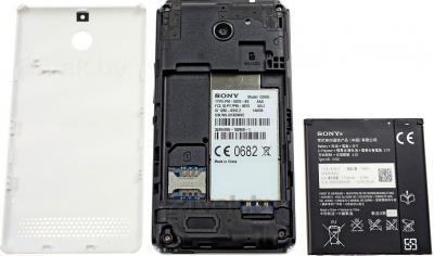 Смартфон Sony Xperia E1 / D2005 (белый) - вид внутри