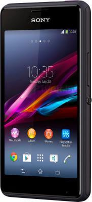 Смартфон Sony Xperia E1 Dual / D2105 (черный) - полубоком