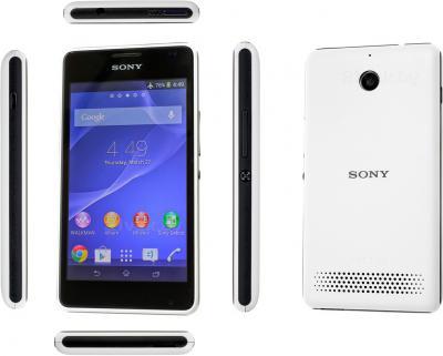 Смартфон Sony Xperia E1 Dual / D2105 (белый) - обзор всех панелей