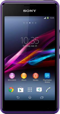 Смартфон Sony Xperia E1 Dual / D2105 (фиолетовый) - общий вид