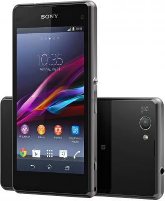 Смартфон Sony Xperia Z1 Compact / D5503 (черный) - передняя и задняя панели
