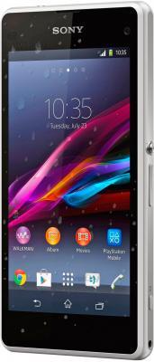 Смартфон Sony Xperia Z1 Compact / D5503 (белый) - полубоком