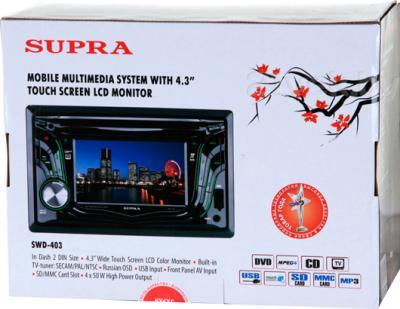 Автомагнитола Supra SWD-403 - упаковка