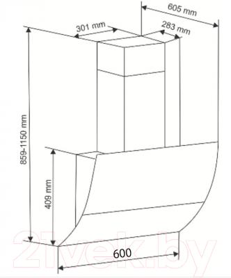 Вытяжка декоративная Exiteq 913/CS40 (60, белый)