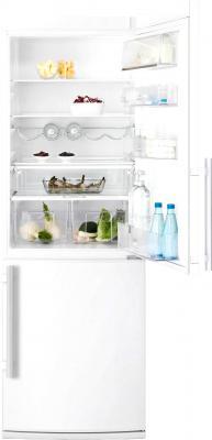 Холодильник с морозильником Electrolux EN3401ADW - с открытой дверцей