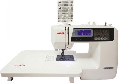 Швейная машина Janome 4120QDC - с расширителем рабочей поверхности и обзорной таблицей строчек