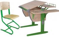 Парта+стул Дэми СУТ 14-02 (зеленый, клен) -