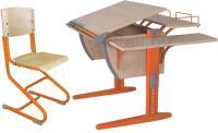 Парта+стул Дэми СУТ 14-02 (оранжевый, клен) -