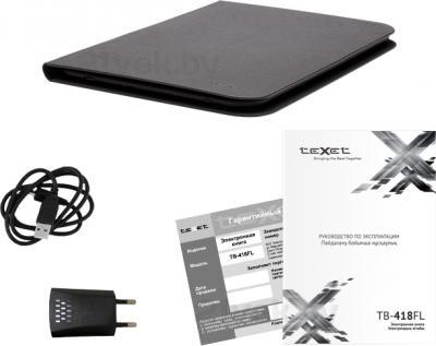 Электронная книга TeXet TB-418FL (черный) - комплектация
