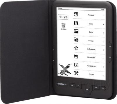 Электронная книга TeXet TB-418FL (черный) - в чехле