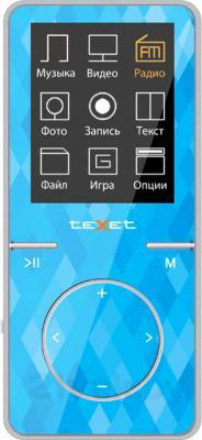 MP3-плеер TeXet T-48 (8Gb, голубой) - вид спереди