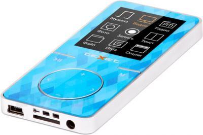 MP3-плеер TeXet T-48 (8Gb, голубой) - общий вид