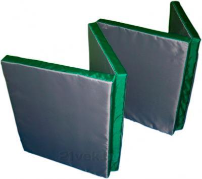 Гимнастический мат Зубрава Трансформер (серо-зеленый) - общий вид