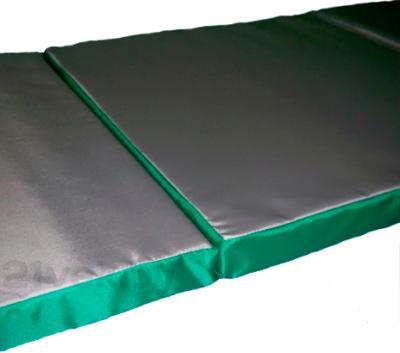 Гимнастический мат Зубрава Трансформер (серо-зеленый) - в разложенном состоянии