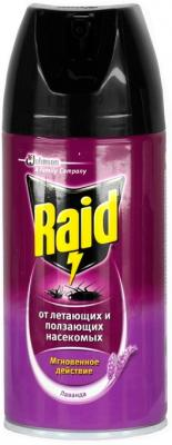 Спрей от насекомых Raid Против ползающих и летающих насекомых Лаванда (300мл) - общий вид