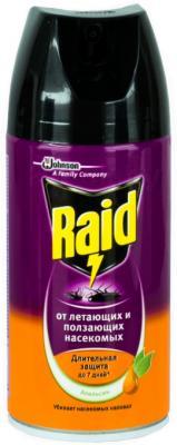 Спрей от насекомых Raid Против ползающих и летающих насекомых Апельсин (300мл) - общий вид
