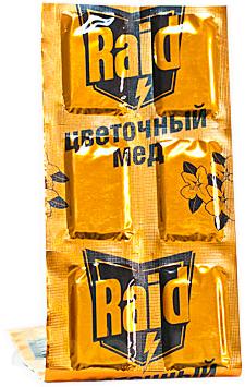 Наполнитель для фумигатора Raid Пластины против комаров Цветочный мед (10шт) - общий вид