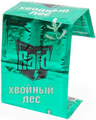 Наполнитель для фумигатора Raid Пластины против комаров Хвойный лес (10шт) - общий вид