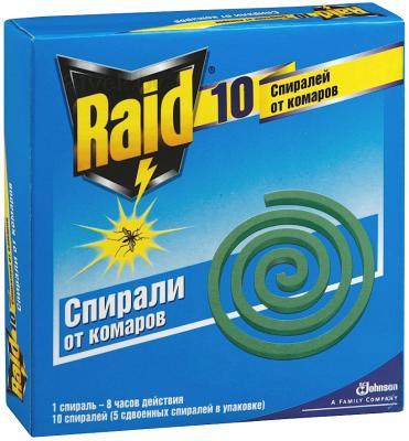 Спирали от комаров Raid 5x2шт - общий вид
