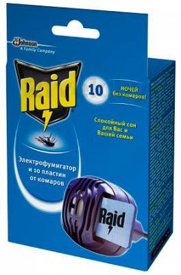 Электрофумигатор Raid От комаров с пластинами (10шт) - общий вид