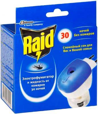 Электрофумигатор Raid От комаров 30 ночей (21.9мл, с регулировкой) - общий вид