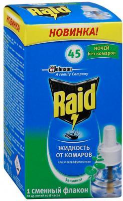Наполнитель для фумигатора Raid Жидкость против комаров Эвкалипт 45 ночей - общий вид